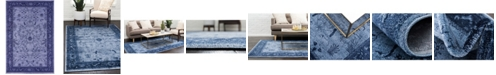 Bridgeport Home Aldrose Ald4 Blue 4' x 6' Area Rug